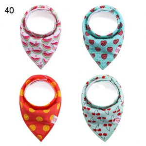 Set of 4 Bibs Fruit