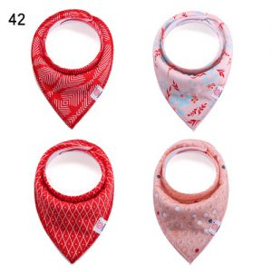 Set of 4 Bibs Red