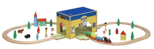 46 PC Train Station Storage Set
