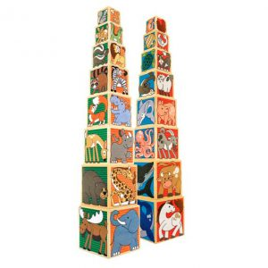 Alphabet Nesting & Stacking Blocks (Cardboard)