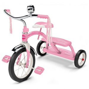 Pink Dual Deck Tricycle Radio Flyer