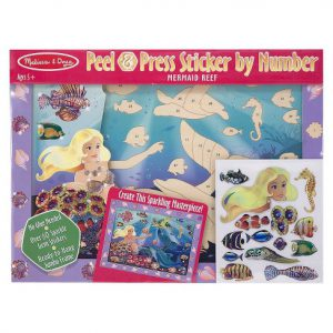 Peel and Press Sticker By Number Mermaid Reef