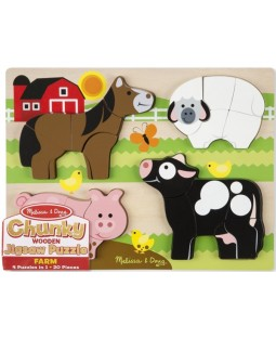 Chunky Jigsaw Puzzle – Farm Animals
