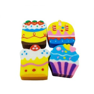 Cupcake Erasers Set of 4