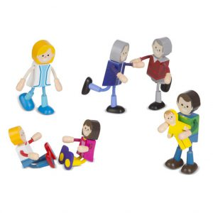 Wooden Flexible Figures-Family