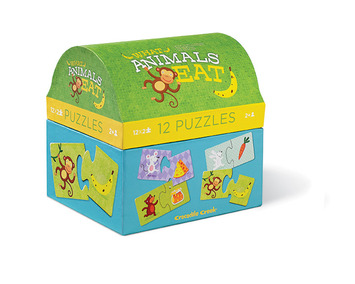 What Animals Eat 2 pc Puzzle Animal Sets