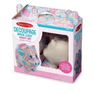 Piggy Bank Decoupage