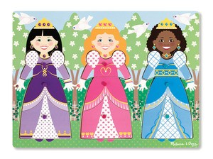 Dress Up Princesses peg Puzzle