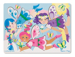 Dress Up Fairies Peg Puzzle
