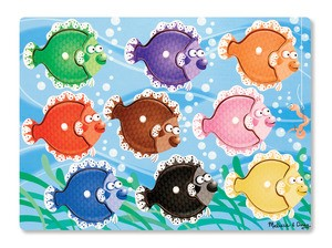 Colourful Fish Peg Puzzle