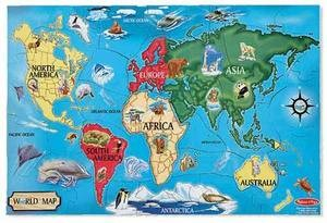 World Map Jigsaw Puzzle 30PC