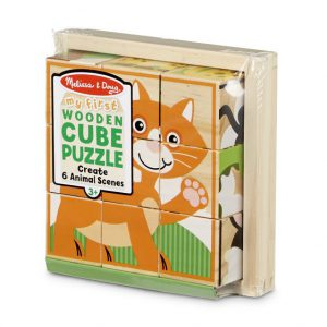 My First Wooden Cube Puzzle – Animals
