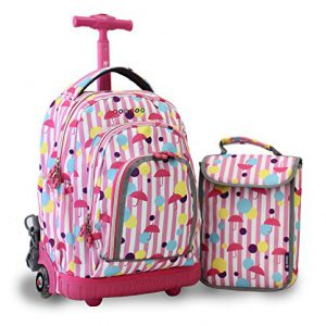 Rain Rolling Backpack with Lunchbox (39X16CM)