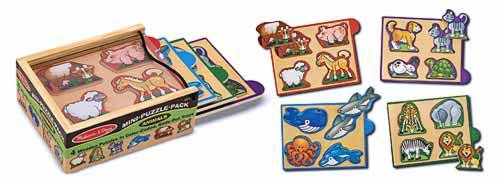 Animal Mini Puzzle Pack