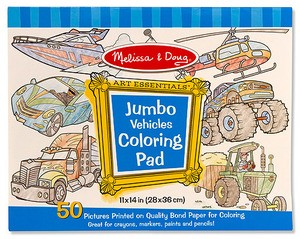 Jumbo Colouring Pad Vehicles