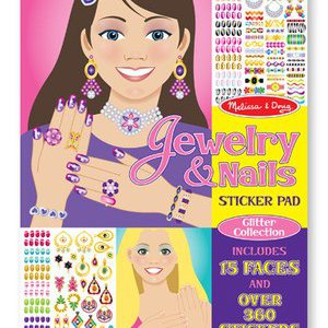 Jewelery and Nails Glitter Sticker Pad