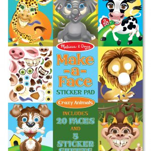 Make a Face Crazy Animals Sticker Pad