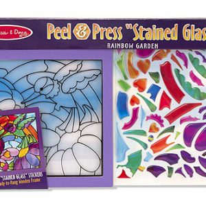 Peel and Press Sticker By Number Rainbow Garden