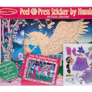 Peel and Press Sticker By Number Mystical Unicorn