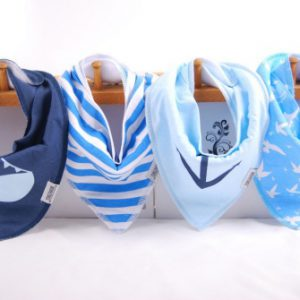 Set of 4 Bibs Nautical 4
