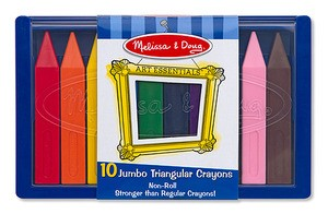 Jumbo Triangular Crayons (10pc)