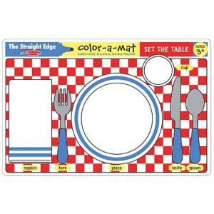 Set the Table Colour a Mat