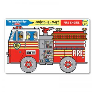 Fire Engine Colour a Mat