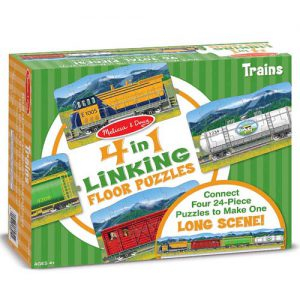 Trains Linking Floor Puzzle (96 pc)
