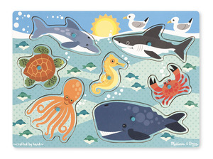 Sea Creature Peg Puzzle