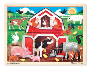 Barnyard Wooden Jigsaw 24PC