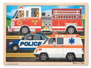 To the Rescue Wooden Jigsaw 24PC