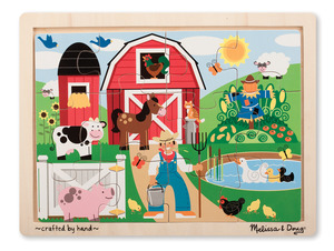 Farm Wooden Jigsaw 12PC