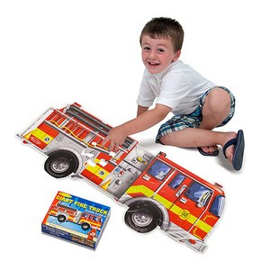Giant Fire Truck Floor Puzzle 24pc