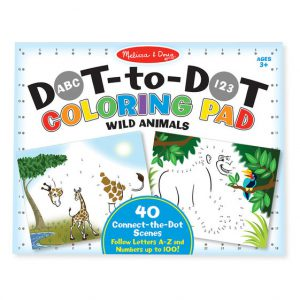 ABC 123 Dot-to-Dot Wild Animals