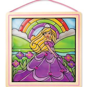 Stained Glass Princess Sticker By Number