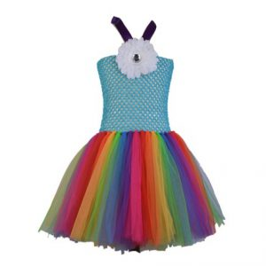 Dress White Flower Rainbow
