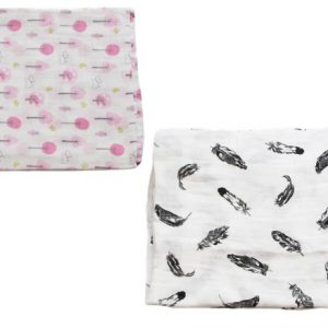 Muslin Blanket 2 Set Girl Pink