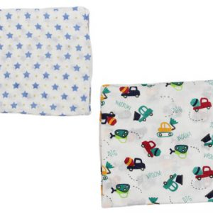 Muslin 2 Set Blanket Boy Blue