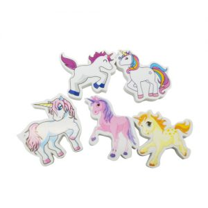 Unicorn Erasers Set of 5