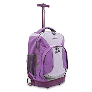 Purple Rolling Backpack (Med) (46X32X22CM)