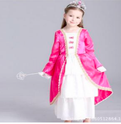Little Queen Gown (Cerise Pink)