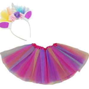 Tutu Mesh with Unicorn Headband