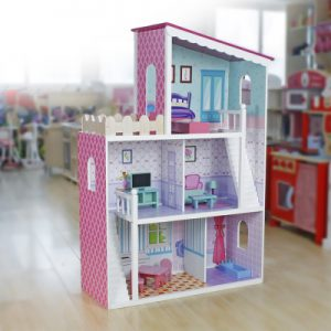 Petite Dollhouse with Furniture