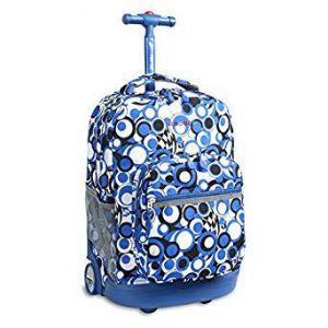 Chess Blue Rolling Backpack (Med) (46X32X22CM)