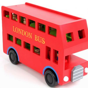 Red Bus With Figurines
