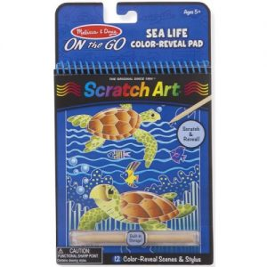 Sea Life Colour Reveal Scratch Art Pad