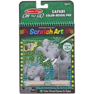 Safari Colour Reveal Scratch Art Pad