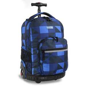 Block Navy Rolling Backpack Large (51X34X22CM)