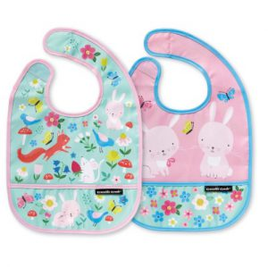 Backyard Friends Bib Set of Two