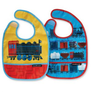 Riding the Rails Bib Set of Two